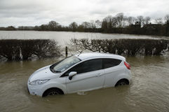 2014 inundações BRITÂNICAS Foto de Stock Royalty Free
