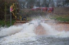 2014 inundações BRITÂNICAS Imagem de Stock