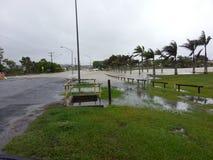 Inundações da costa da luz do sol imagens de stock royalty free