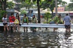 Inundações de Banguecoque fotografia de stock royalty free