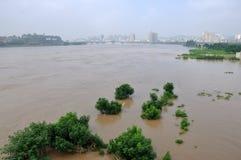 Inundações 2013 de China do sudoeste fotos de stock