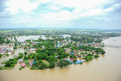 Inundações de Tailândia, catástrofe natural Fotografia de Stock Royalty Free