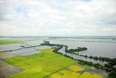 Inundações de Tailândia, catástrofe natural, Fotografia de Stock Royalty Free