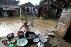 Inundações dentro só Fotografia de Stock
