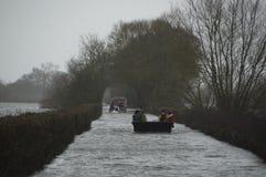 Inundações do Reino Unido 2014 Imagens de Stock