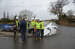Inundações do Reino Unido 2014 Foto de Stock