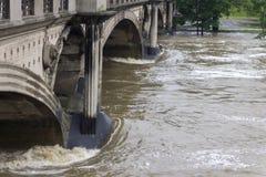 Inundações Praga junho de 2013 Imagem de Stock