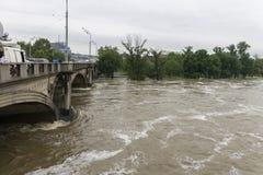 Inundações Praga junho de 2013 Fotos de Stock