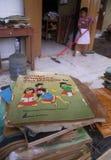 INUNDACIÓN AMBIENTAL DEL DAÑO DEL DESASTRE Foto de archivo libre de regalías