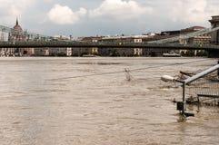 Inundación 2013, Budapest, Hungría del río Danubio Imagen de archivo