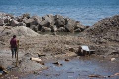 Inundación de Atrani Foto de archivo