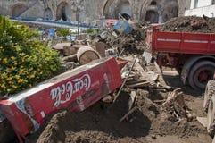 Inundación de Atrani foto de archivo libre de regalías
