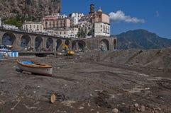 Inundación de Atrani Fotos de archivo