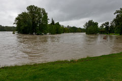 Inundación 2013 de Calgary Imagen de archivo libre de regalías