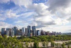 Inundación de Calgary de 2013 Foto de archivo libre de regalías