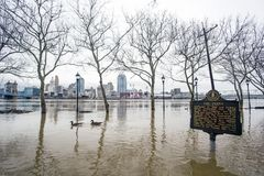Inundación 2018 de Cincinnati Fotografía de archivo