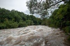 Inundación de destello del inundación-flash en Tailandia Imagenes de archivo