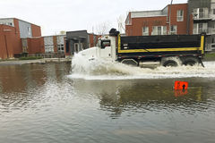 Inundación de la ciudad - Montreal - Canadá Fotografía de archivo libre de regalías