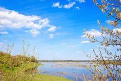 Inundación de la primavera Foto de archivo libre de regalías