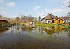 Inundación de la primavera, Bielorrusia Imagen de archivo libre de regalías