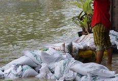Inundación de octubre 30.2011 Bangkok Imágenes de archivo libres de regalías