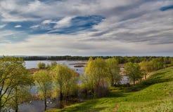 Inundación de Volga en la primavera Fotografía de archivo
