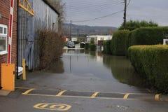 Inundación de Yalding Foto de archivo