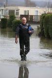 Inundación de Yalding Foto de archivo libre de regalías