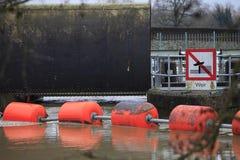 Inundación de Yalding Imagen de archivo libre de regalías