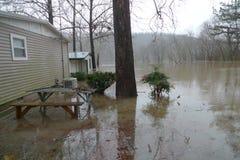 Inundación del lago Taneycomo en Missouri fotos de archivo