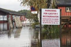 Inundación del río Fotografía de archivo libre de regalías