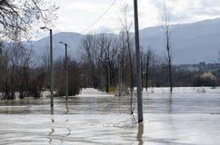 Inundación del río Imagen de archivo