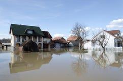 Inundación del río Imagen de archivo libre de regalías