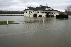 Inundación del río de Connectictut Imágenes de archivo libres de regalías