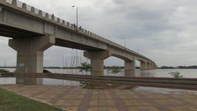 Inundación, el Mekong, Camboya almacen de video