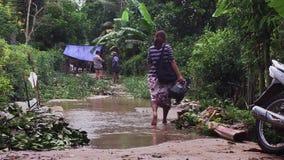 Inundación, el Mekong, Camboya metrajes