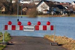 Inundación en Alemania Imágenes de archivo libres de regalías