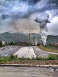 Inundación en Bosnia Foto de archivo libre de regalías