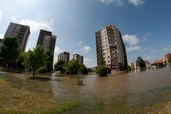 Inundación en el Wroclaw, Kozanow 2010 Imágenes de archivo libres de regalías