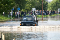 Inundación en el Wroclaw, Kozanow 2010 Foto de archivo