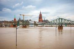 Inundación en Francfort Imagen de archivo libre de regalías