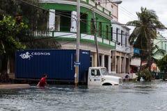 Inundación en La Habana, Cuba Imagen de archivo libre de regalías