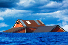 Inundación en país americano Fotografía de archivo libre de regalías