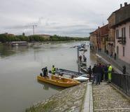 Inundación en Pavía Foto de archivo libre de regalías