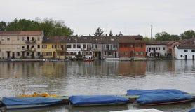 Inundación en Pavía (Borgo Ticino) Fotografía de archivo