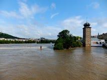 Inundación en Praga Fotos de archivo libres de regalías