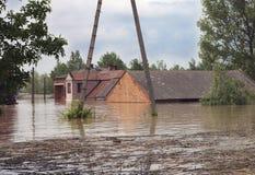 Inundación grande Imágenes de archivo libres de regalías