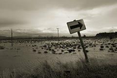 Inundación, isla 2 de Svensen Imagen de archivo