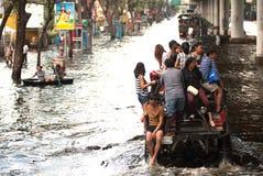 Inundación mega en Tailandia 2011. Foto de archivo libre de regalías