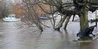 Inundación Reino Unido 2014 de Avon del río Imágenes de archivo libres de regalías